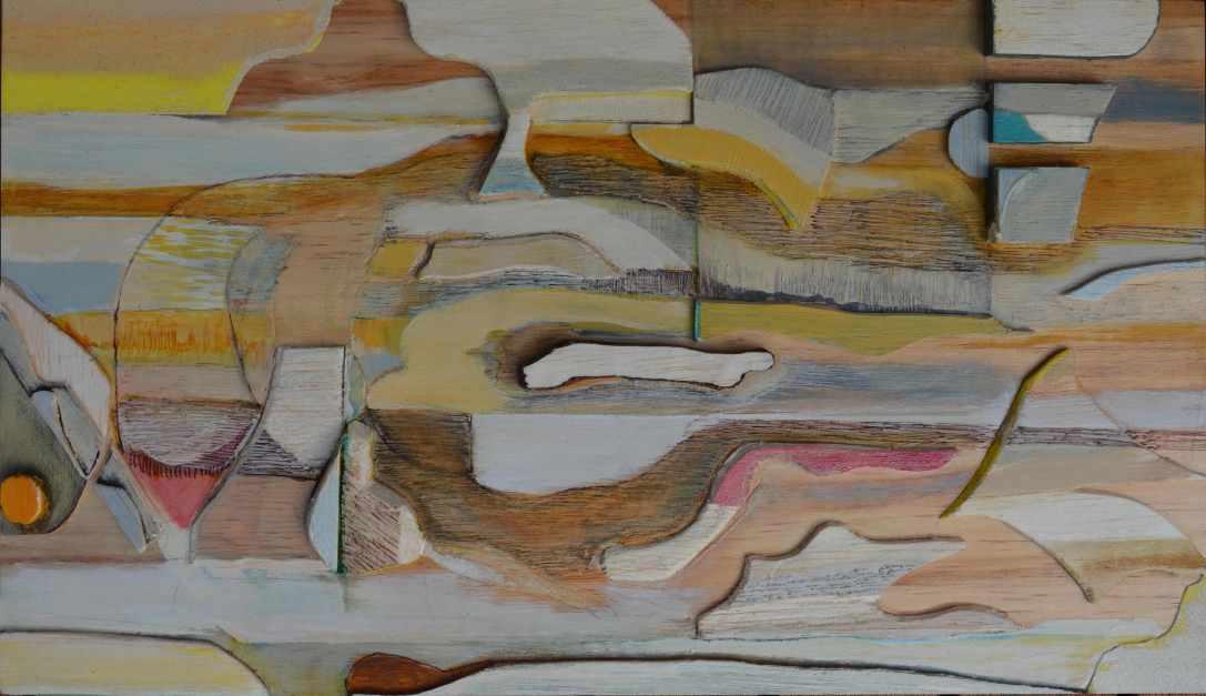 Whorl 32 x 50cm framed